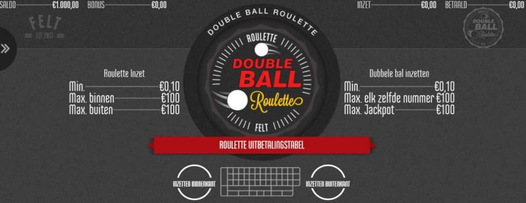 Double Ball Roulette game review