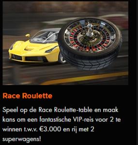 Komende dagen Race Roulette bij Kroon Casino