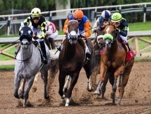 Paardenrennen komt samen met roulette