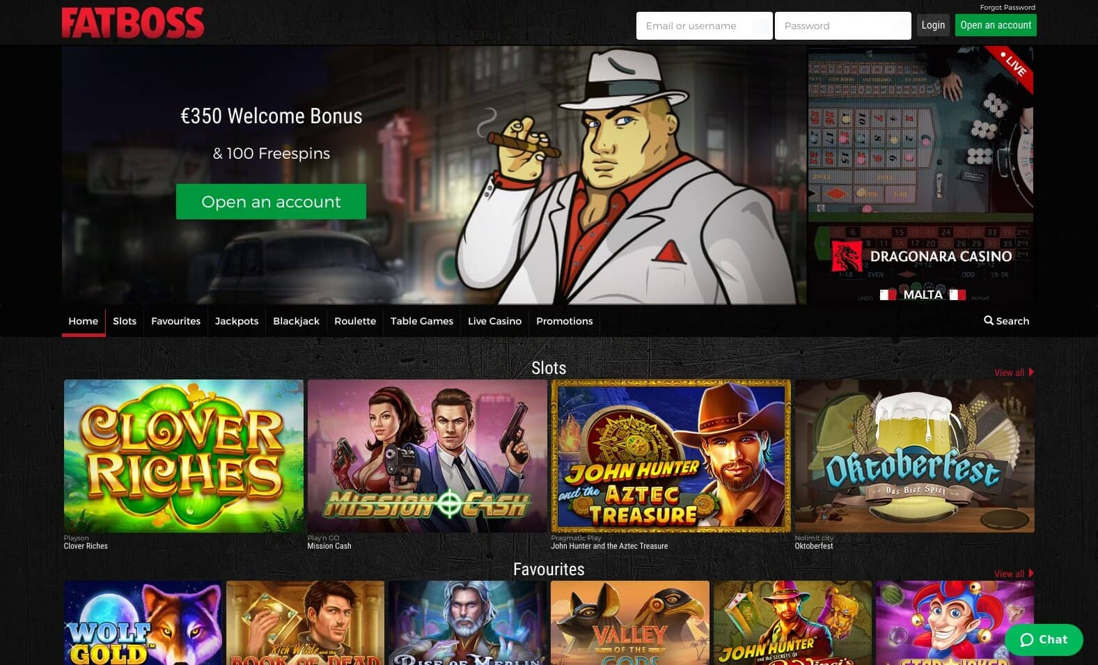 roulette-spelen.nl Fatboss homepage screenshot
