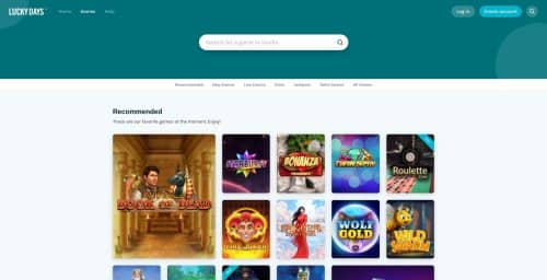 roulette-spelen.nl casino review Lucky Days Casino homepage screenshot