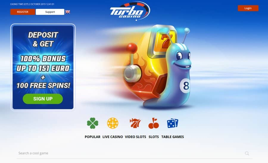 Roulette-Spelen.nl Turbo Casino homepage screenshot